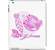 little zentangle birdy iPad Case/Skin