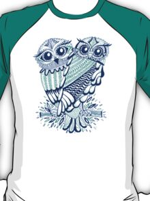 Owls – Turquoise & Navy T-Shirt
