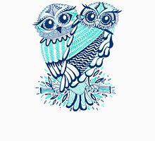 Owls – Turquoise & Navy Unisex T-Shirt