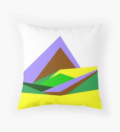 Green Hills, Generative art, Data Visualisation Throw Pillow