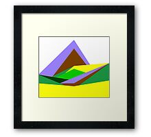 Green Hills, Generative art, Data Visualisation Framed Print