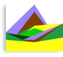 Green Hills, Generative art, Data Visualisation Canvas Print