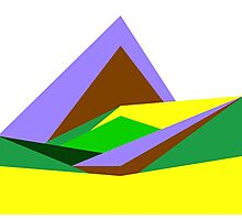 Green Hills, Generative art, Data Visualisation Photographic Print