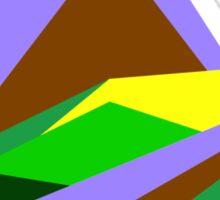 Green Hills, Generative art, Data Visualisation Sticker