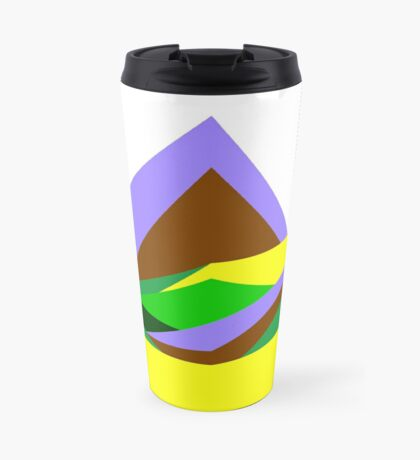 Green Hills, Generative art, Data Visualisation Travel Mug