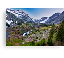 Dusk at Lundy Canyon Canvas Print