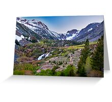 Dusk at Lundy Canyon Greeting Card