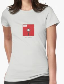 Old School Floppy Disk Womens Fitted T-Shirt
