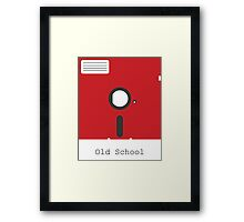 Old School Floppy Disk Framed Print