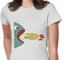 Food Chain Colored Womens Fitted T-Shirt