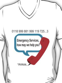 0118 999 881 999 119 7253 IT Crowd Emergency Services T-Shirt