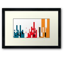 Skyline, Generative Art, Data Visualisation Framed Print
