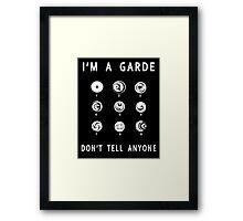 Lorien Legacies - I'm a Garde, Don't Tell Anyone Framed Print