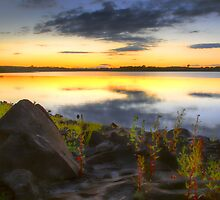 Sunset at Balgray Reservoir by sandgrouse