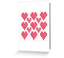 Cross Stitch Heart Greeting Card