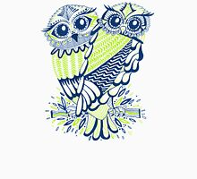 Owls – Chartreuse & Navy Unisex T-Shirt