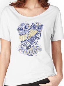 Owls – Navy & Gold Women's Relaxed Fit T-Shirt
