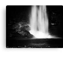 In the rain and spray Canvas Print