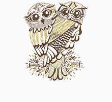 Owls – Gold & Brown Unisex T-Shirt