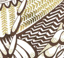 Owls – Gold & Brown Sticker