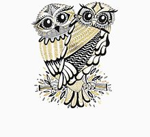 Owls – Black & Gold on Cream Unisex T-Shirt