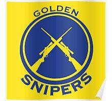 Golden Snipers (Guns) Poster