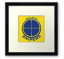 Golden Snipers (Crosshairs) Framed Print