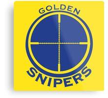Golden Snipers (Crosshairs) Metal Print