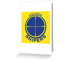 Golden Snipers (Crosshairs) Greeting Card