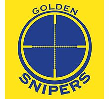 Golden Snipers (Crosshairs) Photographic Print