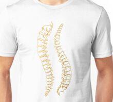 Gold Vertebrae Unisex T-Shirt