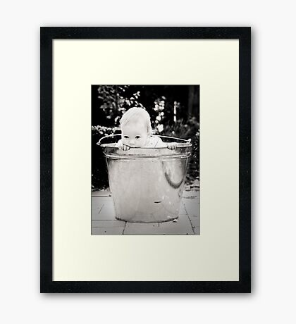 ...I'm just sitting here watching the wheels go round and round... Framed Print