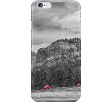 Colorado Western Landscape Red Barns iPhone Case/Skin