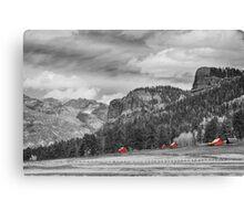 Colorado Western Landscape Red Barns Canvas Print