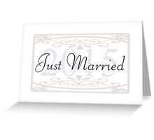 Just Married - Wedding, Married, Love, Marriage, Down the Aisle, Something Blue Greeting Card