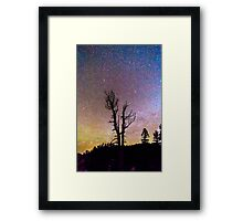 Colorful Celestial Night Portrait Framed Print