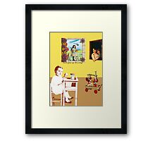 Don't grow up, It's a trap Framed Print
