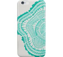 Turquoise Tree Rings iPhone Case/Skin