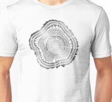 Silver Tree Rings Unisex T-Shirt