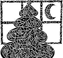 Christmas Tree Evening by ZaMoArts