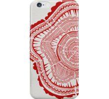 Red Tree Rings iPhone Case/Skin
