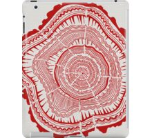 Red Tree Rings iPad Case/Skin