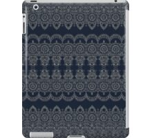 Silvery Striped Doodle iPad Case/Skin