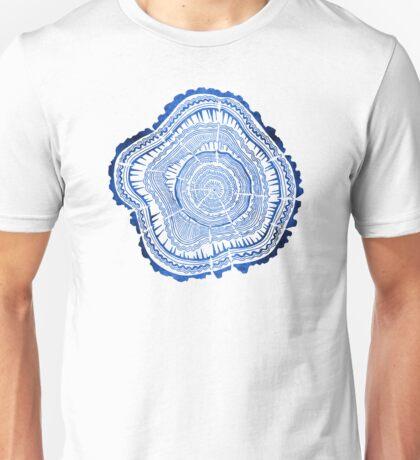 Navy Tree Rings Unisex T-Shirt