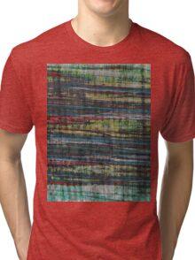 Jagged Striped Tri-blend T-Shirt