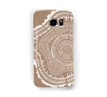 Tree Rings – White Ink on Kraft Samsung Galaxy Case/Skin