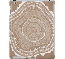 Tree Rings – White Ink on Kraft iPad Case/Skin
