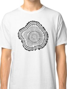 Tree Rings – Black on White Classic T-Shirt