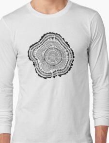 Tree Rings – Black on White T-Shirt