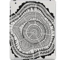 Tree Rings – Black on White iPad Case/Skin
